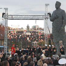 Otkriven spomenik Franji Tuđmanu (Foto: Davor Puklavec/PIXSELL)