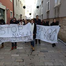 Prosvjed foruma žena SDP-a u Zadru (Foto: Šime Vičević)