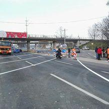 Avenija Dubrovnik prema rotoru još nije blokirana (Foto: Dnevnik.hr)