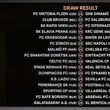 Ždrijeb šesnaestine finala Europske lige (Foto: AFP)