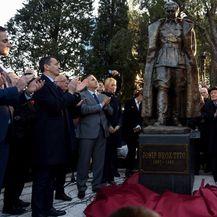 Otkrivanje spomenika Josipu Brozu Titu u Podgorici (Foto: AFP) - 2