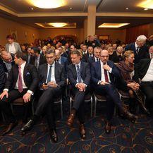 Vrh HDZ-a na obilježavanju 29. obljetnice osnutka HDZ-a Grada Zagreba (Foto: Dalibor Urukalovic/PIXSELL)