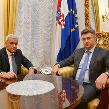 Ante Ramljak i Andrej Plenković (Foto: Vlada RH)