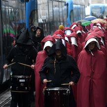 Prosvjedni skup 'Sluškinje ustaju za ratifikaciju Istanbulske konvencije' održao se u Zagrebu