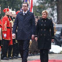Kolinda Grabar-Kitarović u \'generalskom\' kaputu za susret s predsjednikom Srbije Aleksandrom Vučićem - 2