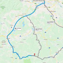 Policija upozorava na posebnu regulaciju prometa zbog posjeta srbijanskog predsjednika općini Gvozd i Vrginmostu (Foto: Google Maps)