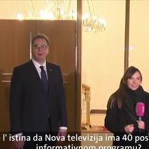 Aleksandar Vučić o Novoj TV (Video: Dnevnik Nove TV)