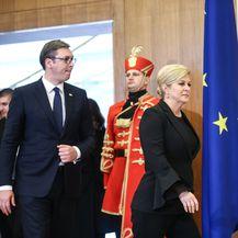 Aleksandar Vučić i Kolinda Grabar-Kitarović (Foto: Pixell)