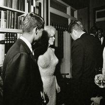 Marilyn i JFK (desno) nakon slavlja u Madison Square Gardenu