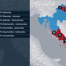 Raspored kamera po županijama (Foto: Dnevnik.hr)