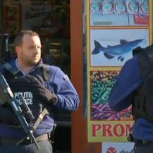 Policija u Bruxellesu (Screenshot Reuters)