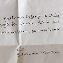 Pismo koje je obitelji napisao Slobodan Praljak (Foto: Dnevnik.hr) - 1