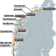 Fjordovi koji usporavaju putovanje
