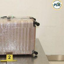 Kofer u kojem su se nalazile jegulje (Foto: PU zagrebačka)