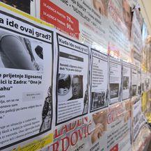 SDP plakatima oblijepio zgradu gradske uprave u Zadru (Foto: Dino Stanin/Pixsell)