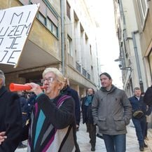 U Zadru održan prosvjed zbog izlaska na slobodu Darka Kovačevića Daruvarca (Foto: Dino Stanin/PIXSELL) - 2