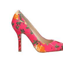Cipele na visoku potpeticu s cvjetnim dezenom - 5