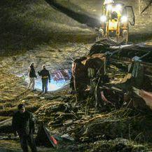 Mjesto nesreće u Makedoniji (Foto: AFP)