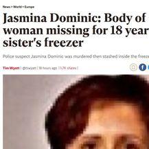 Naslovnice svjetskih medija o pronalasku tijela u zamrzivaču u Palovcu (Screenshot: Independent)