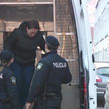 Dovođenje Smiljane Srnec u istražni zatvor (Video: Dnevnik.hr)
