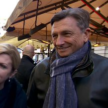 Kolinda Grabar-Kitarović i Borut Pahor (Video: Dnevnik.hr)