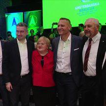 Amsterdamska koalicija predstavila izbornu listu za izbore za Europski parlament (Video: Dnevnik Nove TV)