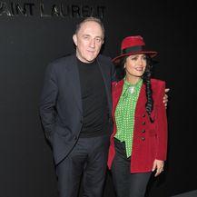 Francois i Salma uoči revije modne kuće Saint Laurent