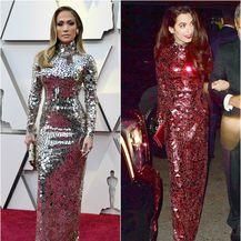 Isti model haljine, ali u crvenoj boji, Amal je nosila na zabavi nakon Met Gale