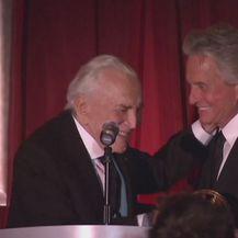 Kirk i Michael Douglas