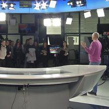 Predavanje studentima na Novoj TV