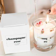 Mirisna svijeća champagne rose