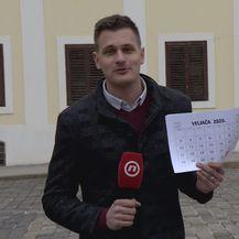 Dino Goleš s kalendarom
