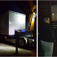 U noći s 30. na 31. prosinca 2020. kontejner je dopremljen obitelji Suzane Isak