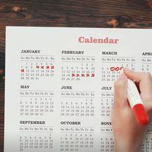 Menstrualni kalendar, ilustracija
