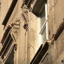 Oštećenja na zgradi u blizini škole u centru Zagreba