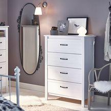 Ukrasite spavaću sobu IKEA komodom
