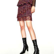 Mini suknja od tvida, Zara 149 kn