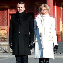 Brigitte i Emmanuel prilikom posjete Zabranjenom gradu