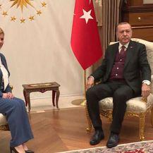 Kolinda Grabar Kitarović i Recep Tayyip Erdoğan (Foto: Dnevnik.hr)