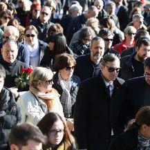 Sprovod Predraga Lucića na splitskom groblju Lovrinac (Foto: Ivo Cagalj/PIXSELL) - 3