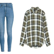 Skinny traperice iz H&M-a po 149 kn, i traper-košulja iz Zare na popustu po 99,90 kn