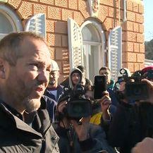 Okršaj radnika Uljanika s Hrvojem Markulinčićem (Video: Dnenvik.hr)
