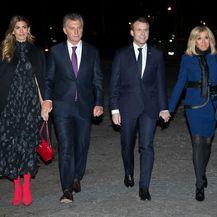 Juliana Awada, Mauricio Macri, Emmanuel Macron i Brigitte Macron