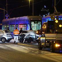 Sudarila se dva automobila i dva tramvaja (Foto: Borna Filic/PIXSELL)