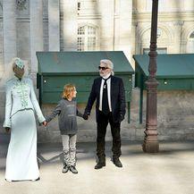 Adut Akech i Karl Lagerfled (Foto: Profimedia)