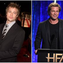 Brad Pitt 2001. i 2018. godine