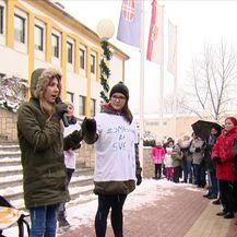 Prosvjed za dostupnost lijeka Spinraze (Video: Dnevnik Nove TV)