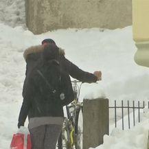 Snijeg neprestano pada u Njemačkoj (Video: Reuters)