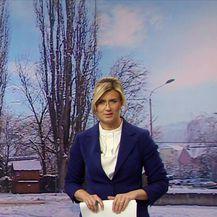 Snježno vrijeme u Dalmaciji (Video: Vijesti u 17h)
