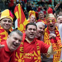 Makedonski navijači u Munchenu (Foto: Sven Hoppe/DPA/PIXSELL)